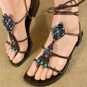 Stuart Weitzman sandals gladiator women's 7 M